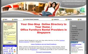 Furniture Rental Singapore